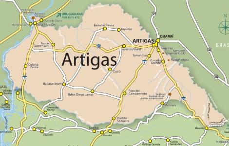 mapa artigas