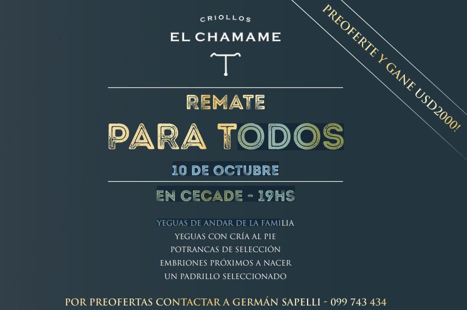 Remate Criollos EL CHAMAME