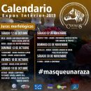 2019 Calendario de Expos del interior